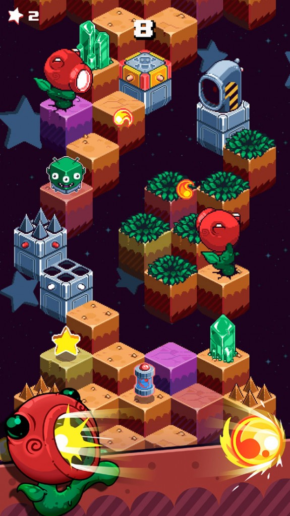 Bulkypix upcoming Mars Mountain is a Q*Bert style game arriving next week