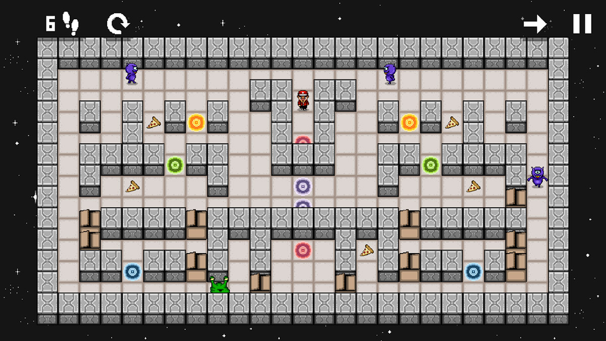 Galactic Pizza is a new retro-style arcade puzzler from Orme Studio