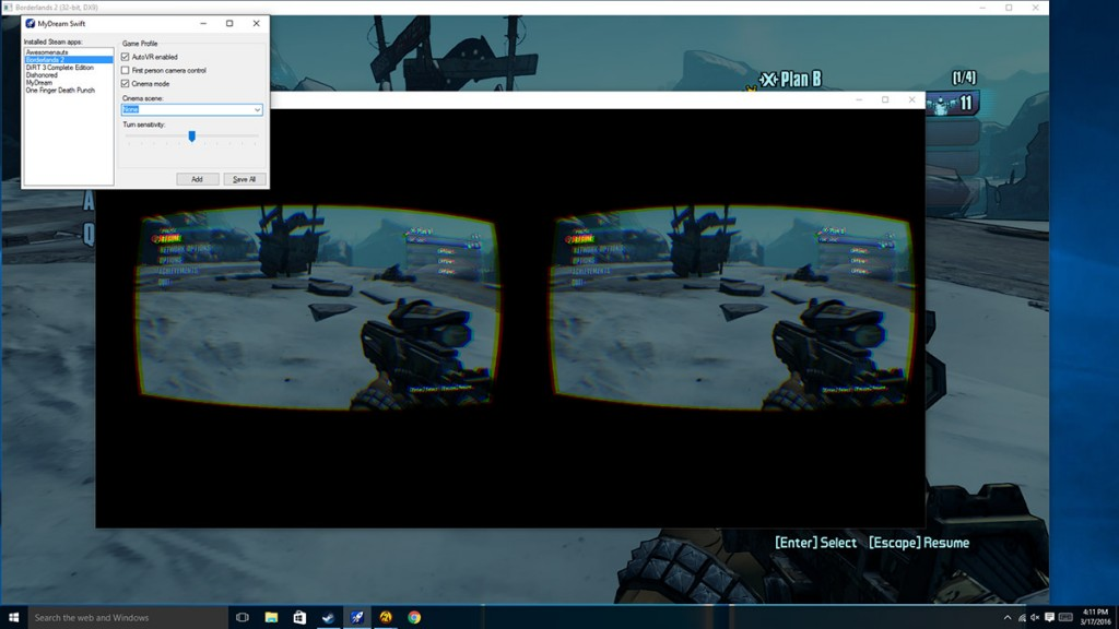MyDream Swift is software that looks to convert most PC games into Virtual Reality games