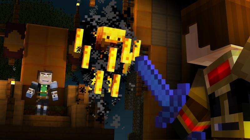 Minecraft: Story Mode Episode 5: Order Up will be arriving March 29th. Three post-season episodes also revealed.