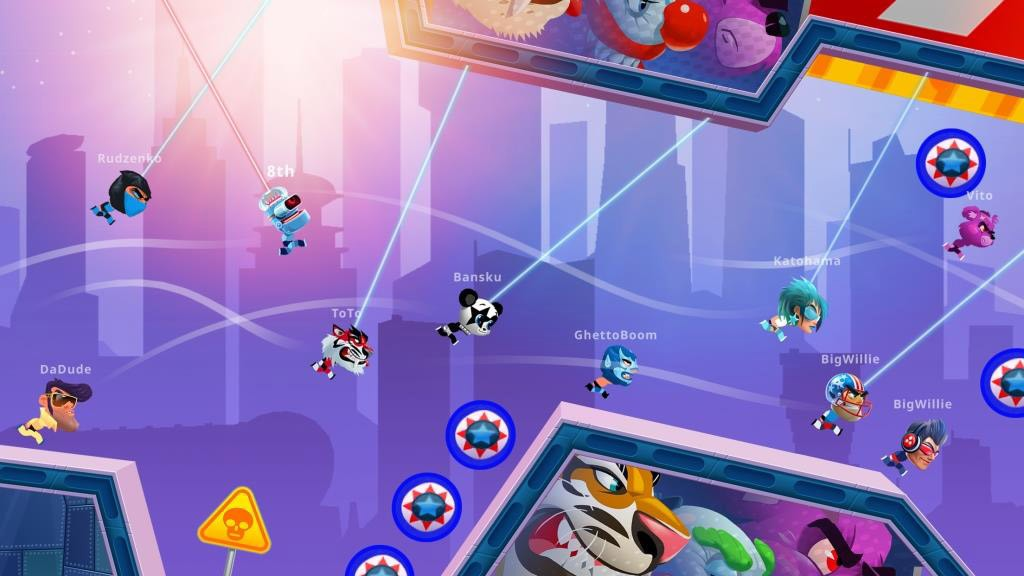 Test your competitive mettle in upcoming speedrunner-style game Rope Racers