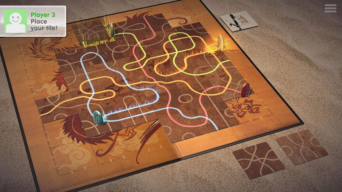 See if you can outlast your opponents in the board game Tsuro, now available from Google Play