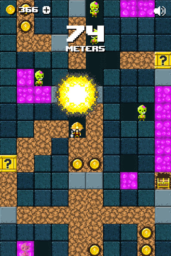 See how long you can keep your miner alive in Miner Z, now available from Google Play