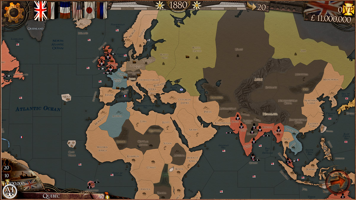 Try to conquer the world in the 19th century in Colonial Conquest, now available from Google Play