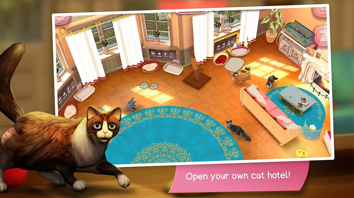 See how well you can care for cats while their owners are away in CatHotel