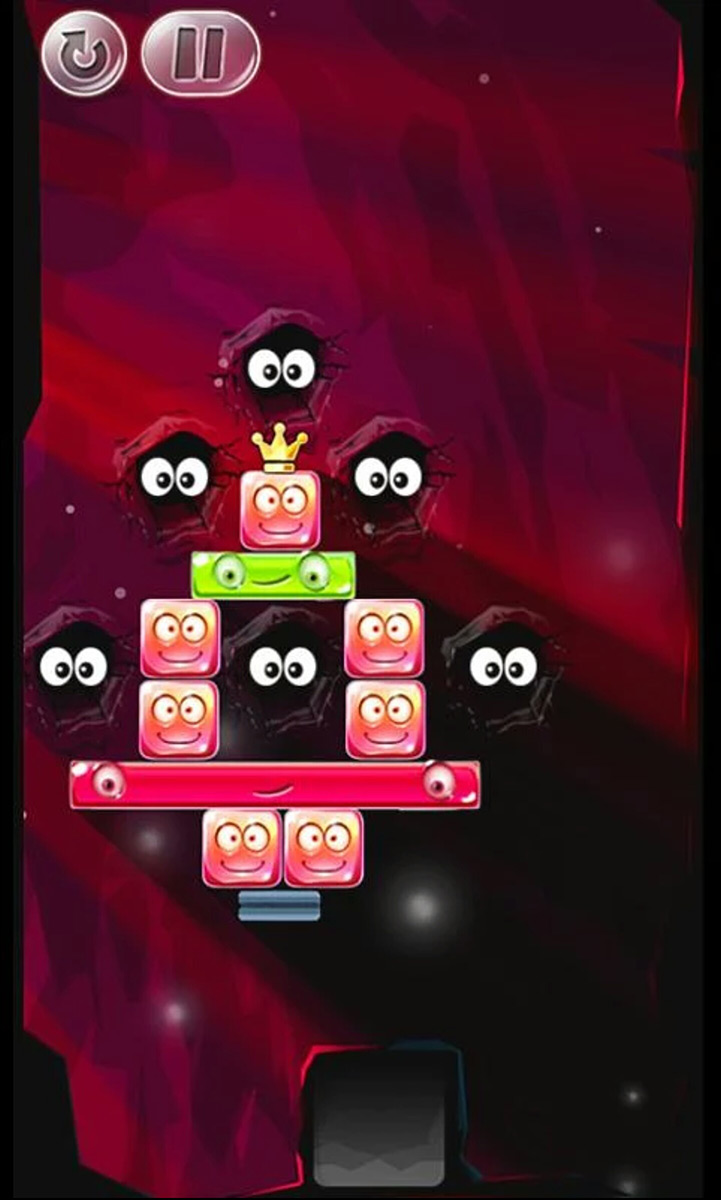 See how high you can build your tower using odd shapes in Crystal Stacker